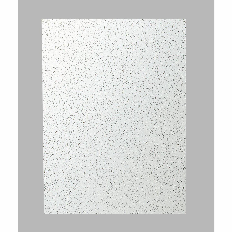 Plateau 2 Ft. x 4 Ft. White Mineral Fiber Ceiling Tile (8-Count) Image 1