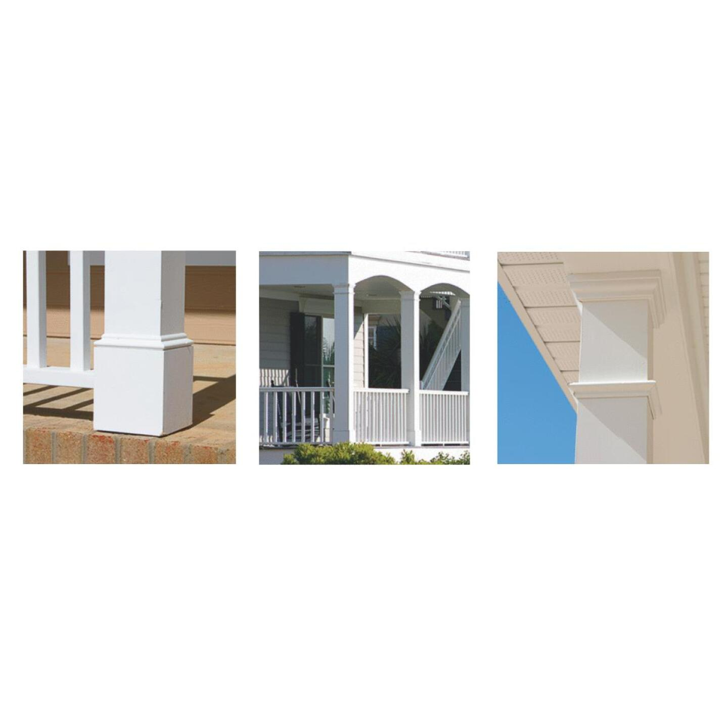 Crown Column DuraSnap 6 In. W x 6 In. H x 120 In. L White PVC Post Wrap Image 2
