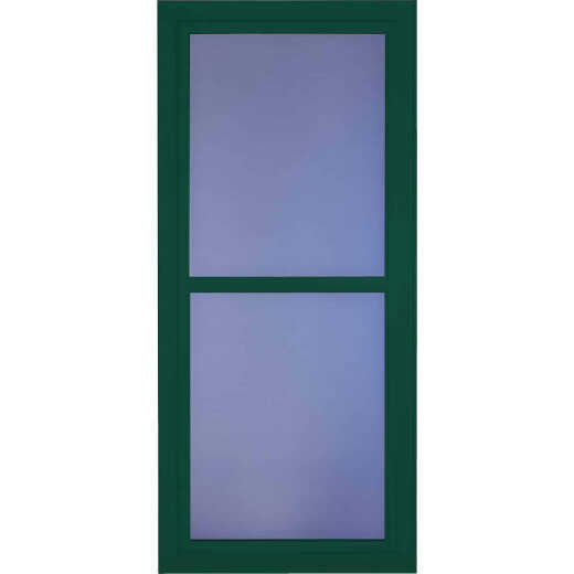 Larson Easy Vent 146 Series 36 In. W x 81 In. H x 1-7/8 In. Thick Green Full View Aluminum Storm Door