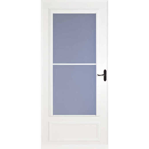 Larson Screenaway Lifestyle 32 In. W x 81 In. H x 1 In. Thick White Mid View DuraTech Storm Door