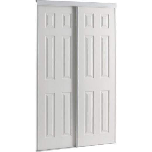 Colonial Elegance 48 In. W x 80-1/2 In. H Six-Panel White Woodgrain Bypass Door