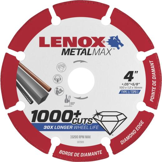 Lenox MetalMax 4 In. Segmented Rim Dry Cut Diamond Blade with 5/8 In. Arbor