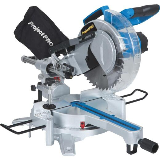 Project Pro 10 In. 15-Amp Sliding Compound Miter Saw with Laser