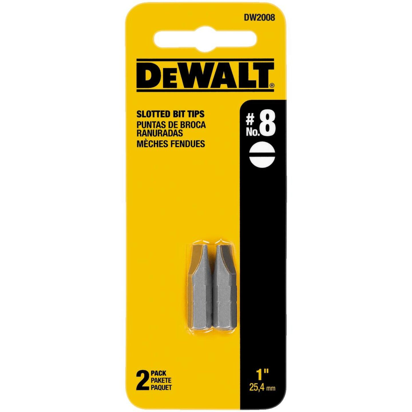 DeWalt Slotted #8 1 In. Insert Screwdriver Bit Image 1