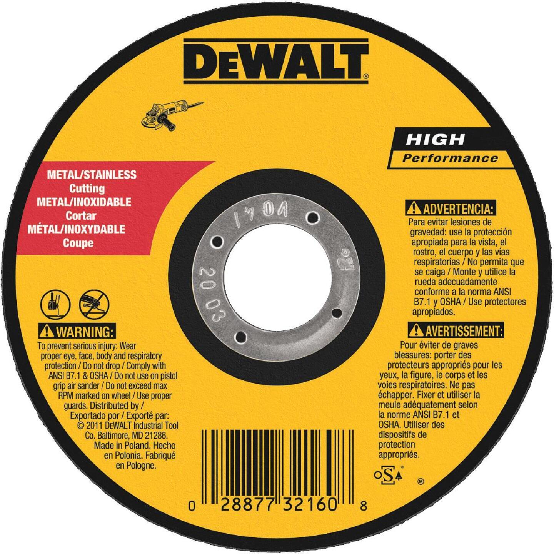 DeWalt HP Type 1, 5 In. Cut-Off Wheel Image 1