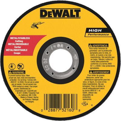 DeWalt HP Type 1, 5 In. Cut-Off Wheel