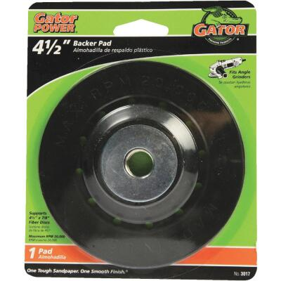Gator 4-1/2 In. Power Angle Grinder Backing Pad