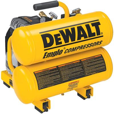 DeWalt 4 Gal. Portable 100 psi Twin-Stack Air Compressor