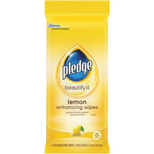 Pledge Lemon Furniture Polish Wipes (24 Count)