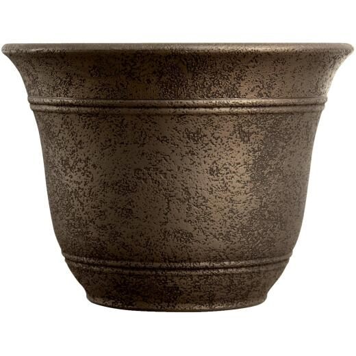 Listo Sierra 7.38 In. H. x 10 In. Dia. Nordic Bronze Poly Flower Pot
