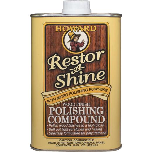 Howard Restor-A-Shine 16 Oz. Wood Finish Polishing Compound