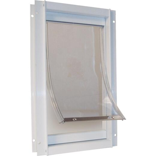 Ideal Pet 10-1/2 In. x 15 In. XL Aluminum White Pet Door