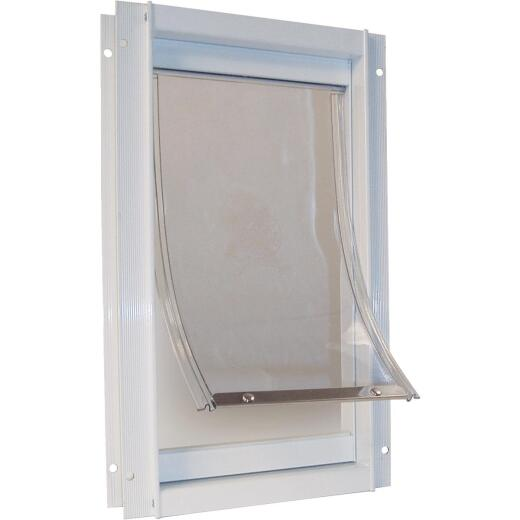 Ideal Pet 15 In. x 20 In. Super Large Aluminum White Pet Door