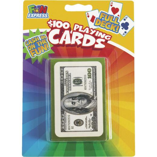Fun Express $100 Bill Playing Cards